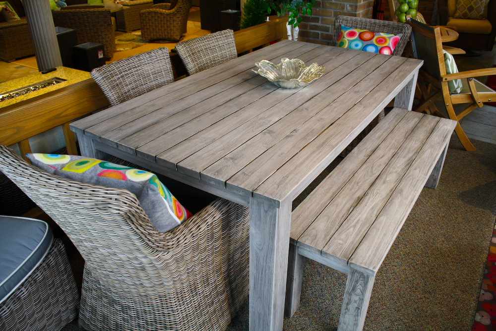 Remarkable Reclaimed Teak Dining Table Outdoor Dining Set Okemos Mi Machost Co Dining Chair Design Ideas Machostcouk