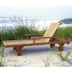 Westbrook Teak Classic Chaise Lounge Patio Furniture