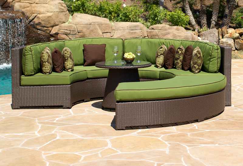 Curved Wicker Outdoor Sectional Lansing Mi Heat N Sweep