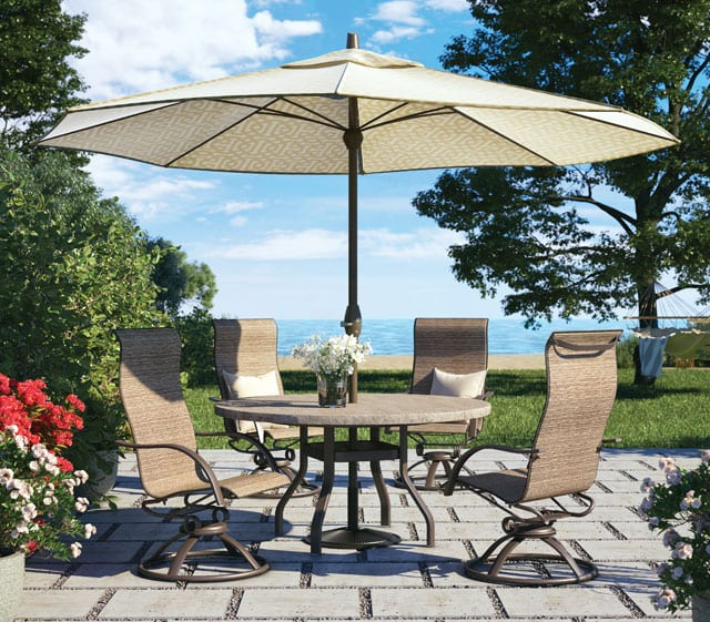Aluminum Sling Patio Furniture | Outdoor Dining Sets ...