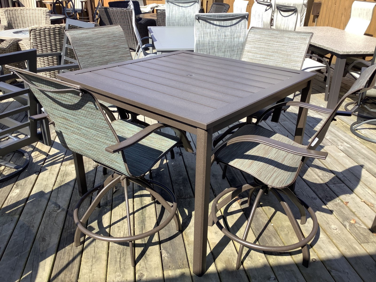 Stella Balcony Height Dining Group Patio Furniture Okemos Mi