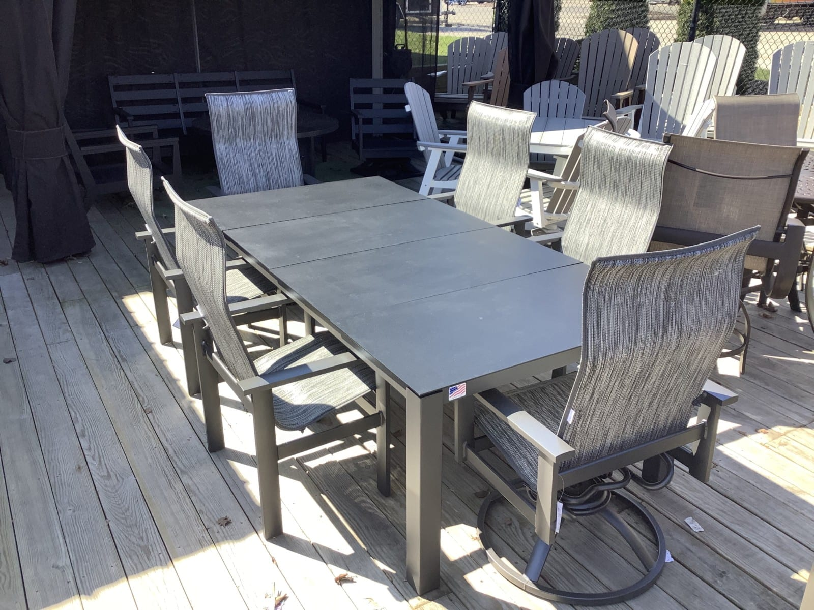 Dining-Set-Homecrest-Mode-Table-and-Elements-high-back-chairs
